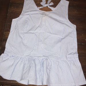 J. CREW SLEEVELESS STRIPW TOP
